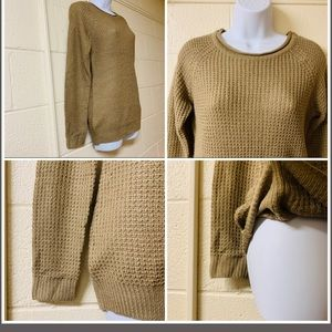 2/$20 Ambiance Long Taupe Knit Sweater Crew Neck